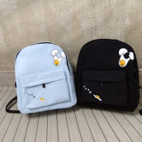 Backpack canvas Other / other Spread eggs cute grey spread eggs Midnight Black spread eggs taro purple spread eggs fresh blue brand new in zipper soft