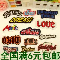 Cloth stickers Black amazing jniin blue Donald yellow dream love music assez Moco FHS qele st yam gal as shown in the picture, a group of 13 more preferential Solo embroidery Geometric pattern