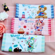 Handkerchief / handkerchief Blue cyan rose 25x25cm currency zero point zero one Five hundred and sixty-nine children Cartoon duffy