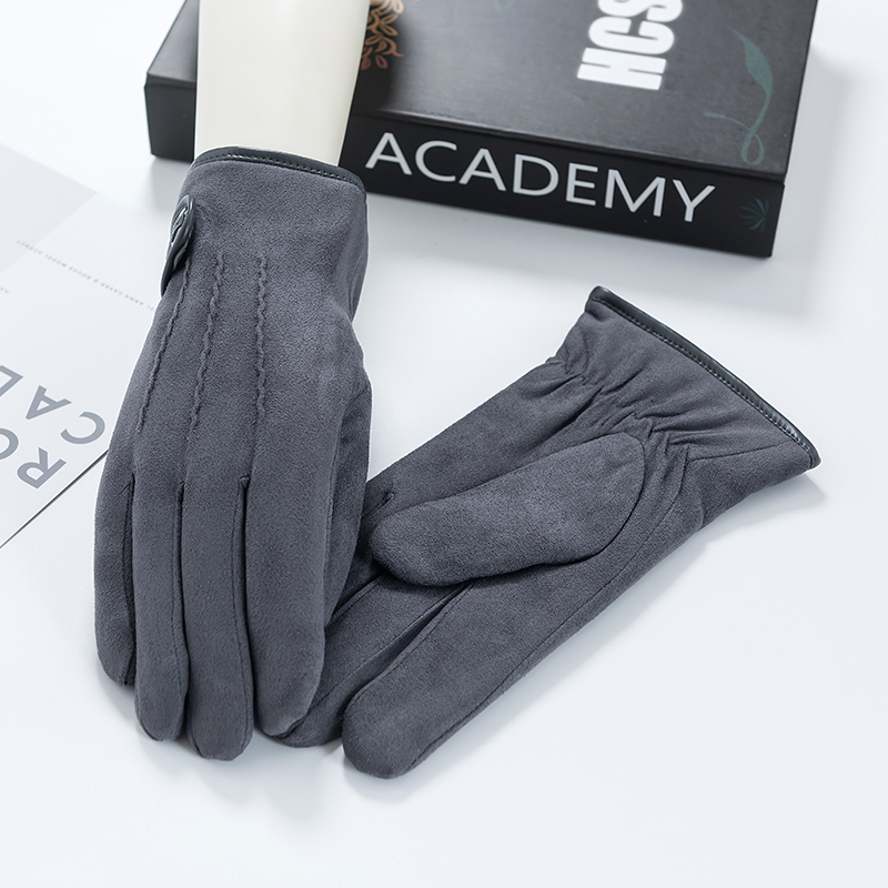 glove Velvet Grey black navy blackish green color of camel's hair male Average code Gloves Old age - over 60 years old middle age -40-59 years old youth -20-39 years old 9-624 Well cloth friend