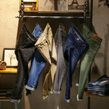 Jeans Youth epidemic Gray black khaki dark green dark blue light blue Other /other 28 29 30 31 32 33 34 36 38 conventional High elasticity Conventional denim Other leisure trousers Cotton 79.9% Polyester 18.3% Polyurethane Elastic Fiber (Spandex) 1.8% Low waist Washing four seasons zipper youth