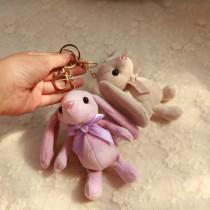 Key buckle A&m Big ear purple rabbit (15cm) big ear Green Rabbit (15cm) big ear grey rabbit (15cm) big ear red rabbit (15cm) big ear dark green rabbit (15cm) Plush