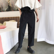Casual pants those days Youth fashion Basic color (black, gray, white, etc.) M recommendation 28-30 l recommendation 30-32 XL recommendation 32-34 XXL recommendation 34-35 routine Ninth pants Other leisure easy No bullet 750MK185 Four seasons youth tide 2018 Medium high waist Straight cylinder other