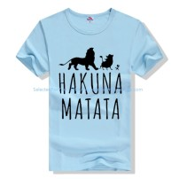 T-shirt other White gray black red yellow lake blue sky blue purple pink pink fruit green rose orange thin S M L XL 2XL 3XL Others Short sleeve other easy Other leisure spring Hakuna youth Letter graffiti Socket cotton other Printing / dyeing