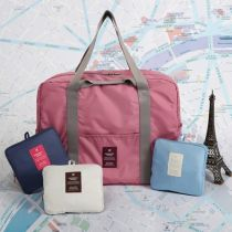 Travel bag No Monopoly Polyester Big Uncle Navy shell Beige pink sherbet rubber red slate blue slate blue travel Bag type Soft handle Japan and South Korea Double root Yes Pure color Zipper pocket mobile phone bag certificate bag Polyester youth
