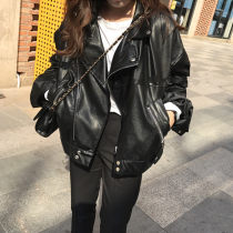leather clothing Other / other Fall 2017 MLS code Black (premium) black routine Long sleeves easy commute zipper routine PU pocket 18-24 years old