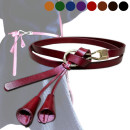 Belt / belt / chain top layer leather female belt Versatile Single loop Youth, middle age and old age Smooth button Glossy surface Glossy surface 1.2cm