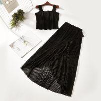 Fashion suit Summer of 2018 Average size Black 7952-135 51% (inclusive) - 70% (inclusive) polyester fiber