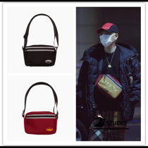 Bag Inclined shoulder bag canvas other Other / other Red and black One shoulder portable messenger