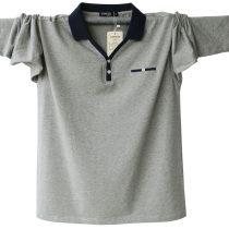 T-shirt Fashion City Gray blue light gray dark blue routine 195/(4XL) 5XL M L XL 2XL 3XL Steed lion Long sleeves Lapel easy Other leisure autumn tide