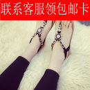 Sandals 36 37 38 39 40 Off White Star Star Black Star off white-1-1 black-1-1 off white sunflower sunflower black sunflower Other / other Suede Pinch toe Flat bottom Flat heel (1cm or less) Summer of 2018 Elastic band Korean version Solid color Adhesive shoes Youth (18-40 years old) Rubber foaming PU