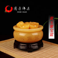 Ornaments Jade other Neoclassical, modern and Chinese Large (with Yuanbao and qibaoshi) medium (with Yuanbao and qibaoshi) small (with Yuanbao and qibaoshi) Tabletop ornaments office Round Buddhist utensils Solicit wealth 11D Semi manual