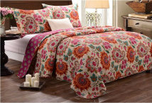 Bedding Set / four piece set / multi piece set Milaiya / milaiya cotton 3 pieces 40 cotton Quilting Plants and flowers 133x72 Sun flower 1.5m (5 ft) bed 1.8m (6 ft) bed Bed cover type Superior products European style 100% cotton plain cloth Reactive Print  Sun flower