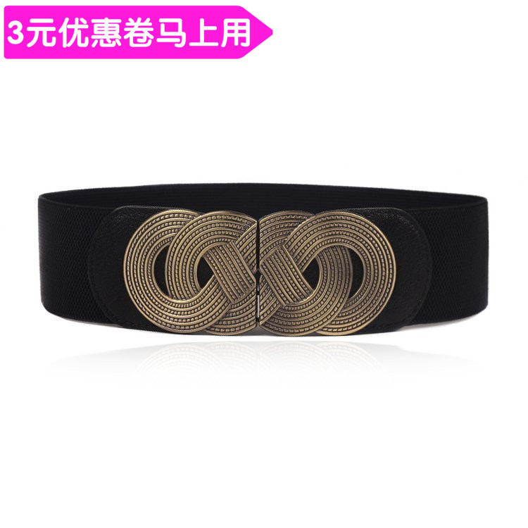 Belt / belt / chain Pu (artificial leather) Black lengthened to 70 cm red black light brown female Waistband grace Single loop Middle aged youth a hook Glossy surface Glossy surface 6cm alloy alone three thousand and sixteen