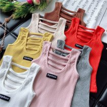 Vest sling Clothing label 5 (suggested height 90) clothing label 7 (suggested height 100) clothing label 9 (suggested height 110) clothing label 11 (suggested height 120) clothing label 13 (suggested height 130) Pink orange Beige coffee 2 pieces minus 5 yuan gray white yellow Sleeveless summer female