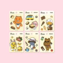 Stickers KAKAO FRIENDS A bear a peach a rabbit a duck a cat a dog