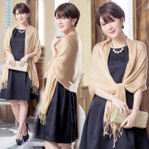 Scarf / silk scarf / Shawl other Natural white classic elegant black noble gold elegant grey jujube red Spring and autumn, summer and winter female Shawl multi-function Korean version rectangle Students, parents and children, young, middle aged and old Solid color tassels 52cm 165cm More than 96%