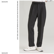 Western-style trousers dandyinne Fashion City Black [in stock] 42/165/XS,44/170/S,46/175/M,48/180/L,50/185/XL nine thousand seven hundred and eighty-five trousers New polyester fiber 100% Straight cylinder winter leisure time youth 2020