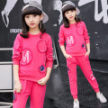 suit Shangyou Beibei Rose Pink Black 110cm 120cm 130cm 140cm 150cm 160cm female spring and autumn motion Long sleeve + pants 2 pieces routine Socket
