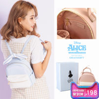 Bag The single shoulder bag PU other Grace gift Light blue pink brand new in zipper Double root Two shoulders and one shoulder youth Soft handle 8SDBAGALI-25 synthetic leather Spring / summer 2018