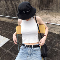 Vest sling Summer of 2018 White gray black apricot Short style - Open navel long style - not open navel singleton  have cash less than that is registered in the accounts Self cultivation commute Hanging neck style Solid color XY Lingling