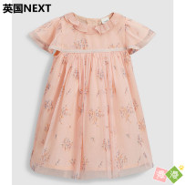 Dress Purchasing on behalf of 596379 (non refundable) Next female Polyester 100% summer leisure time Short sleeve Broken flowers cotton Irregular five hundred and ninety-six thousand three hundred and seventy-nine other