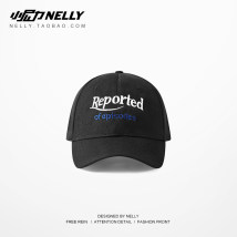 Hat canvas Red and black Adjustable Baseball cap Spring summer autumn winter currency street youth Gaoding Wide eaves 15-19 years old 20-24 years old