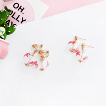 Earrings other RMB 1.00-9.99 Bilandi A pair of goldfish ear nails and a pair of goldfish ear clips brand new female Japan and South Korea goods in stock Fresh out of the oven Not inlaid Bear / pig / animal E3389