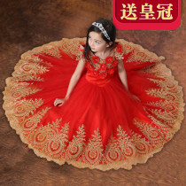 Children's dress Red (for crown) red (for pantyhose) red (for crown + pantyhose) red (for skirt) red (for crown + pantyhose + skirt) female 110cm 120cm 130cm 140cm 150cm 160cm GULULU full dress eight thousand and thirteen Class A nylon Polyester 65% cotton 35%