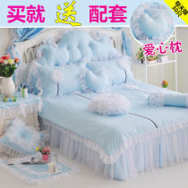 Bedding Set / four piece set / multi piece set Forty Mmlove / full of love 4 pieces Plant flowers cotton 133x72 1.2m (4 feet) bed 1.5m (5 feet) bed 1.8m (6 feet) bed 2.0m (6.6 feet) bed 2.2m (7 feet) bed others Quilting cotton Bed type First grade Princess Wind Twill cotton 100% Reactive printing