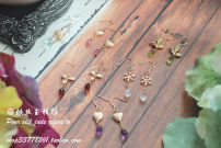 Earrings Natural crystal / semi precious stone 40-49.99 yuan Other / other brand new female Japan and South Korea Custom made Fresh out of the oven