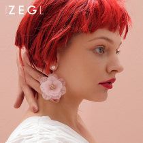 Earrings Alloy / silver / gold 101-200 yuan ZENGLIU White pink brand new female Europe and America goods in stock Fresh out of the oven ZL39573 yes