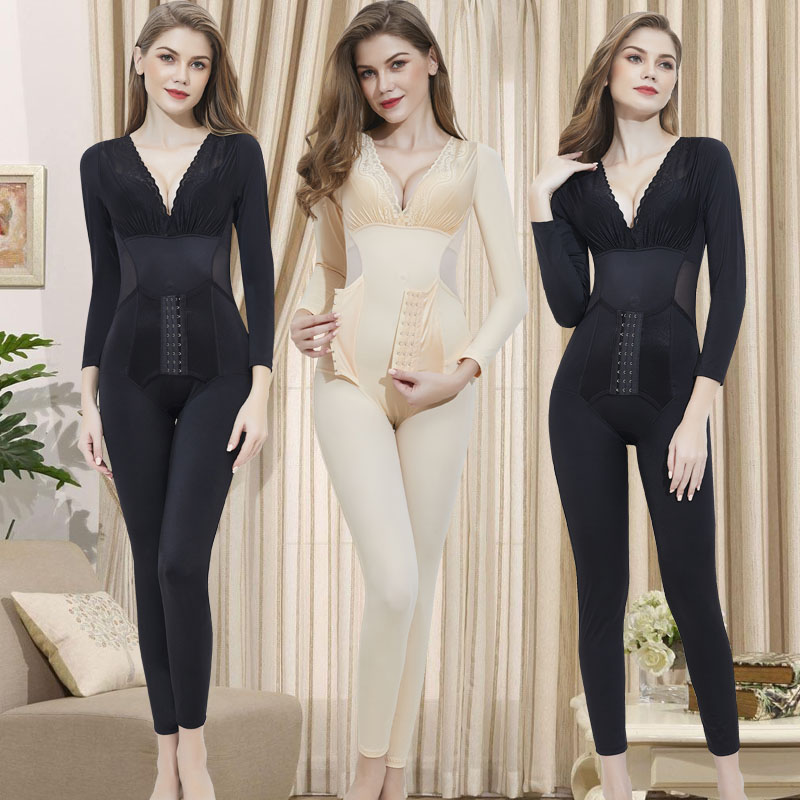 Body shaping suit spring and autumn Beautiful and elegant Black, complexion S,M,L,XL,XXL,XXXL routine Enhanced one-piece BODYSUIT one thousand nine hundred and ten