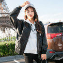 leather clothing Fall of 2018 pink black SMLXL Ling step Short paragraph Self-cultivation Long sleeve zipper Commuting Standing collar conventional PU