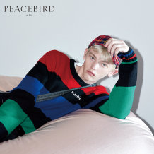T-shirt / sweater Peacebird Fashion City Tricolor stripe XXL routine B2EB83171 Polyacrylonitrile 71.2% wool 28.8% Autumn of 2018 Same model in shopping mall (sold online and offline) Peacebird / taipingniao b2eb83
