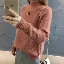 sweater Winter 2017 Average code Brick red card its pink apricot yellow blue white Long sleeve Conventional models Sleeve Conventional models Single Half high collar conventional Straight Commuting 201711BK638 Pure color Conventional wool Warm and heat Song Mu Ni 18-24 years old 100% other