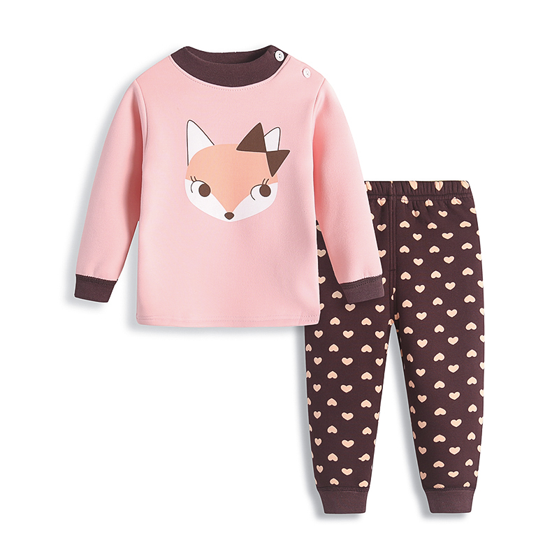 Underwear set Alphabet bear blue chinchilla Sika Deer green lion mouse elephant coffee dog pink picture pink fox love kitten 90cm 100cm 110cm 120cm cotton Other / other Cotton 100% winter neutral Class A B01 11-13 years old 1-3 years old 3-5 years old 5-7 years old 7-9 years old