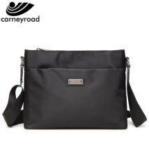 Men's bag The single shoulder bag oxford Carney Road black brand new leisure time leisure time zipper hard Small yes Zipper hidden bag mobile phone bag certificate bag sandwich zipper bag Solid color Yes Single root youth Horizontal square polyester fiber Sewing CR1006 Inner patch pocket