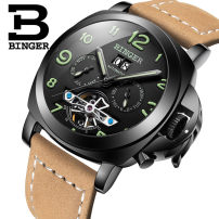 Wristwatch Binger / accusative National joint guarantee Mechanical movement - automatic mechanical movement male genuine leather domestic 3ATM Fine steel Mineral reinforced glass mirror 10mm 44mm B-5032 circular fashion Pointer type brand new Pin buckle To the bottom ordinary Big dial Spring of 2018