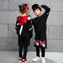 Children's performance clothes 2-piece jacket and pants neutral 110cm 120cm 130cm 140cm 150cm 160cm 170cm 180cm Other / other Class B ZJ - boys and girls 1733 two piece camouflage Hat Set practice Pure cotton (100% content)