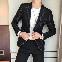 Suit Fashion City WOPA Light grey L (one piece suit) routine WP191 Cotton 67% polyester 29% polyurethane elastic fiber (spandex) 4% Autumn of 2018 Pure e-commerce (online only)