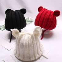 Hat Average size Beige cream red Khaki black Suitable for 1-6 years old (head circumference 35-52cm) female Headgear dome leisure time Other / other No eaves Winter of 2018