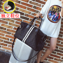 Travel bag oxford nothing Other / other A B C C with shoes a with shoes B with shoes large yes leisure time Double root Japan and South Korea Bag type polyester fiber Soft handle youth Zipper hidden bag mobile phone bag certificate bag sandwich zipper bag female