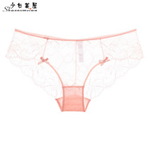 underpants female Pink gray black white SMLXL Girls' house 1 nylon Briefs low-waisted sexy Solid color youth Quick drying 28833K Spring of 2018 Polyamide fiber (nylon) 82% polyurethane elastic fiber (spandex) 18% Cotton 100% Pure e-commerce (online only) cotton