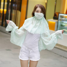 Scarf / silk scarf / Shawl Chiffon summer female Shawl sunshade Korean version rectangle Student youth middle age Plants and flowers Embroidery More than 96%