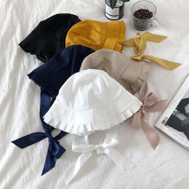 Hat other White yellow black Navy apricot Adjustable other Summer and Autumn female Sweet and lovely Young lovers flat roof Wide eaves bow Travel