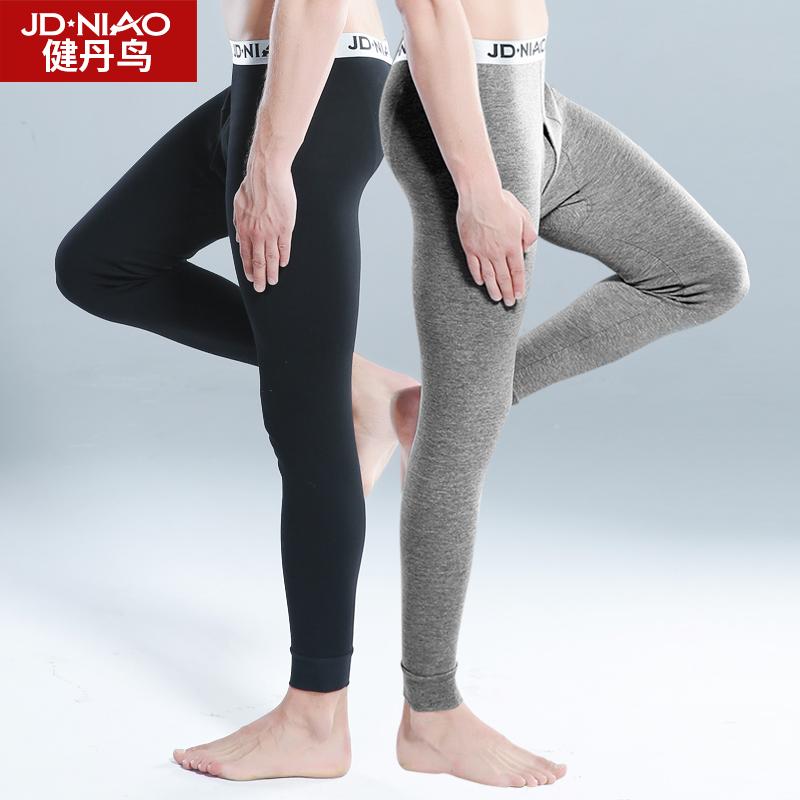 Warm pants 170(L)175(XL)180(XXL)185(XXXL) Jiandanniao male keep warm trousers Solid color middle-waisted eight thousand six hundred and twenty-nine cotton youth Cotton 100% Autumn 2015