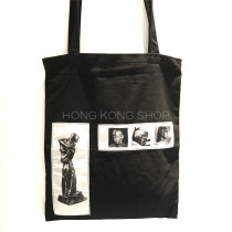 Bag The single shoulder bag cotton Tote Bag Other / other black Fashion trend in Exposure One shoulder hand nothing youth