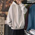 Sweater Youth fashion Go further M L XL 2XL 3XL 4XL 5XL Socket Solid color Plush Hood winter easy leisure time teenagers tide routine X-W10287710A