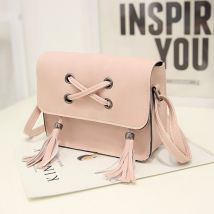 Bag Inclined shoulder bag PU Small square bag Other / other Off white black gray dark green pink light brown brand new Japan and South Korea Small soft